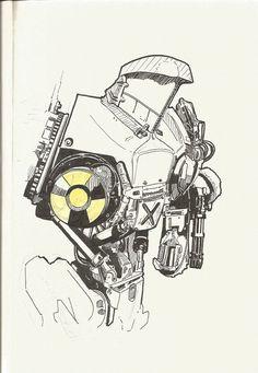 Cain Illustration - Robocop 2 by berksenturk.deviantart.com