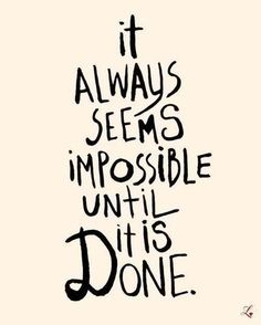 Believe in the impossible...Hope!