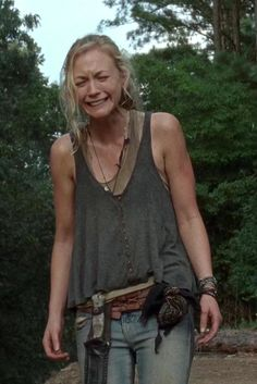 The Walking Dead - Beth is played by Emily Kinney - She's an amazing singer. Wow. I love the episodes when they have had her sing.