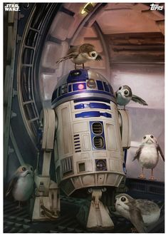 star-wars-the-last-jedi-topps-cards-r2-d2-and-the-porgs.png (665×934)
