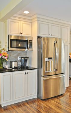 build kitchen cabinets faucets grohe a wall built in microwave cabinet keeps counter clear and is mounted mount