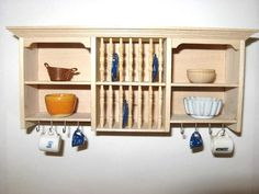 Miniature Plate Rack & Plate Rack Plate Holder Wall Mounted Plate Shelf | Plate rack ...