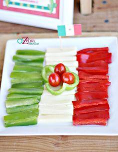 Snacks decorados para las fiestas patrias.
