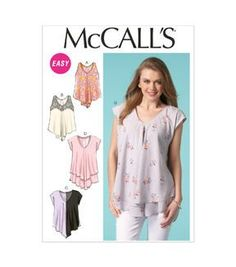 "Mccall Pattern M7125  45"" wide needs 3-1/4 yd 60"" needs 2-3/4 yd Challis, crepe, crepe de chine, chiffon, georgette fabrics"