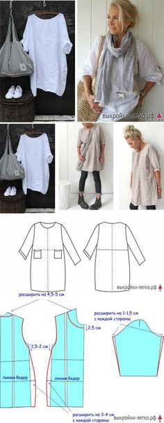 Sewing Patterns Boho Shirts Ideas For 2019 Sewing Patterns Free, Free Sewing, Clothing Patterns, Sewing Tutorials, Dress Patterns, Linen Dress Pattern, Sewing Projects, Sewing Dress, Diy Dress