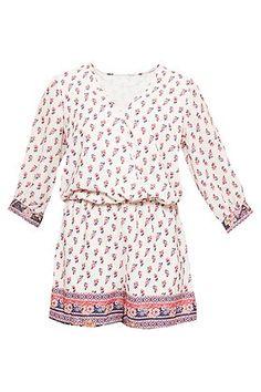 Mono de gasa estampado Rompers, Let It Be, My Style, Shopping, Dresses, Fashion, Print Chiffon, Closets, Slip On