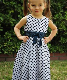 This Black Polka Dot Dress - Toddler & Girls by JC EDITION is perfect! #zulilyfinds
