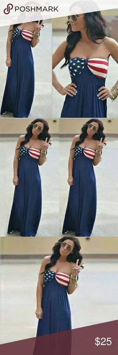 Spotted while shopping on Poshmark: Women's USA Patriotic 4th of July Maxi Dress! #poshmark #fashion #shopping #style #Dresses & Skirts