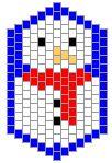 6 free brick stitch Christmas patterns
