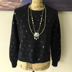 ⚠️FLASH SALE⚠️ ACROBAT Sweater Perfect sweater for a rainy spring day! Has embroidery on it, black sparkles. says Medium, but fits as a Small Acrobat Sweaters