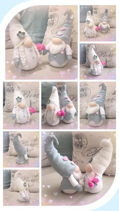 This cute pair of dwarves is the perfect accent for your wedding or engagement decor! This is an order for the bride and groom's dwarves. Christmas Gnome, Handmade Christmas, Easter Crafts, Holiday Crafts, Diy Snowman Decorations, Valentines Diy, Clay Crafts, Diy Crafts To Sell, Handmade Toys
