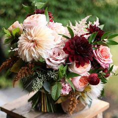Goodbye November!  Tomorrow is the first day of December and even though it's not officially winter until the 21st, to many December = winter.  So adiós fall!  We're celebrating by sharing with you five stunning autumn bouquets perfect for the fall 2018 bride. Lead photograph ~ Floral Verde Calie Rose; D'Arcy Benincosa Studio Blush; Ruth …