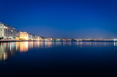 City in Blue Thessaloniki - Greece by Alexis Ntounas Travel Around The World, Around The Worlds, Night Photography, Exposure Photography, Beautiful Places To Visit, Greece Travel, City Lights, The Good Place, Fun Facts