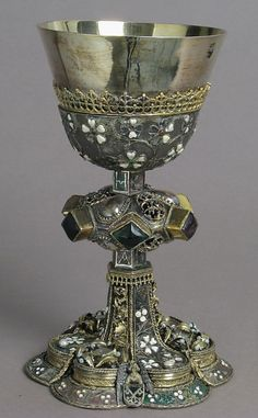 A hoard of riches... — Chalice, 15th century, Central European Silver,...