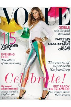 Gisele on the December 2011 cover of Vogue UK by Mario Testino - this one is classic - i have it still!