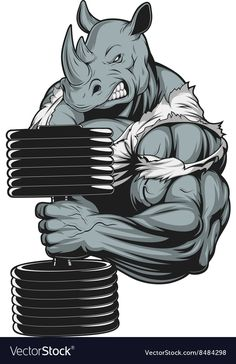 Muscular strength fitness: Ferocious Strong Rhinoceros by Vector g. Dope Cartoon Art, Dope Cartoons, Rhino Logo, Dibujos Pin Up, Bull Tattoos, Graffiti Characters, Rhinoceros, Art Model, T Rex