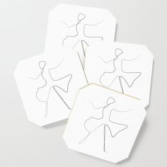 """ Dancing Collection "" - Dancer Coaster by aelissedesign Coasters, Dancing, Prints, Collection, Dance, Drink Coasters, Printmaking, Coaster Set"