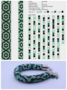 Crochet Bracelet Pattern, Loom Bracelet Patterns, Crochet Beaded Bracelets, Bead Crochet Patterns, Bead Crochet Rope, Beaded Jewelry Patterns, Beading Patterns, Seed Bead Bracelets Tutorials, Beaded Bracelets Tutorial