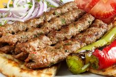 Persian Kabob Recipe, Cookbook Recipes, Baking Recipes, French Coconut Pie, Souvlaki Recipe, Iranian Cuisine, Lamb Kebabs, Kabob Recipes, Greek Cooking
