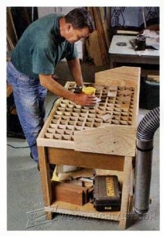 Downdraft Sanding Table Plans - Sanding Tips, Jigs and Techniques | WoodArchivist.com