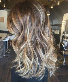 Fall Bronde Ombré. Color by @amhair_ #hair #haute #hairenvy #hairstyles…