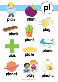 Blends Worksheets and Activities - PL by Lavinia Pop Phonics Flashcards, Phonics Books, Phonics Reading, Learning Phonics, Preschool Learning Activities, Physical Activities, English Phonics, English Language Learners, Phonics Blends