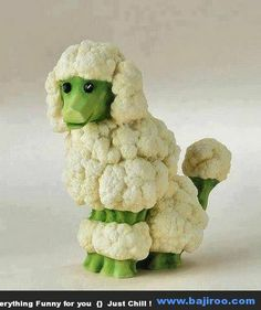 Funny Food Art You Can Try at Home (36 Photos) - Wouldn't this look cute in the middle of a vegetable platter?!