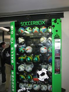 Soccer vending machine! Why don't we have these America??????!!! Why? We must get these! It's not even an option anymore