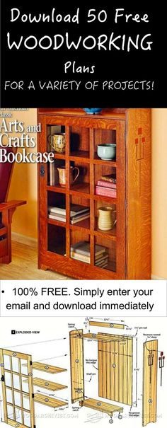Get 50 Woodworking Plans & a 440-Page Guide Book Absolutely FREE!