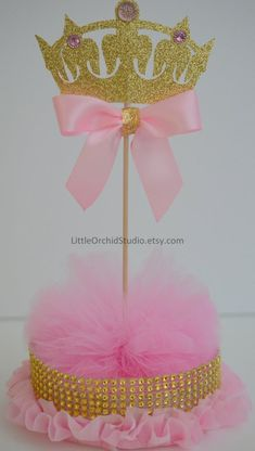 Items similar to Princess Baby Shower/ Princess Birthday/ First Birthday/ Baby/ Its a girl/ Princess party/ Pink and gold/ Centerpieces/ Baby girl shower on Etsy Baby Girl Shower Themes, Baby Shower Table, Girl Themes, Boho Baby Shower, Baby Girl Princess, Princess Theme, Baby Shower Princess, Pink Princess, Princess Gifts