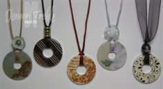 Washer pendant necklaces, from A Path of Paper