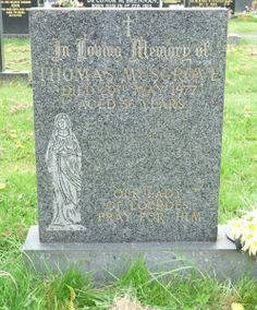 This gravestone marks the resting place of my uncle Tommy. I took the photograph on a recent visit to Clitheroe Cemetery in Lancashire. Tommy is my mum's brother and the son of Frederick Anis…