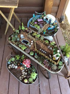 DIY fairy garden design and accessories - DIY Fairy Garden Design and Accessories I am addicted to these miniature garden worlds, the fairyta - Indoor Fairy Gardens, Mini Fairy Garden, Fairy Garden Houses, Miniature Fairy Gardens, Dream Garden, Garden Fun, Garden Sheds, Fairytale Garden, Gnome Garden