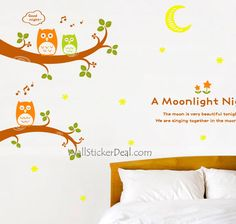 Remy Moon A Moonlight Night Wall Sticker
