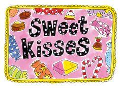 Sweet kisses kaart van Blond Amsterdam