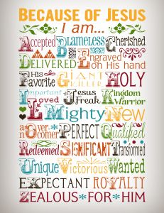 "Free+""Because+Of+Jesus""+Printable going to put this up on the wall-great for a bulletin board"