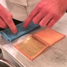 Truffles in edible gold leaves