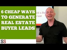 http://www.systemssaturday.com On this Systems Saturday, John Cochran will school you on the 6 paid ways to generate a Real Estate buyers list. Many of … source