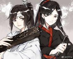 Switch of clothing 互换衣服 paro Wang x Xian 忘羡