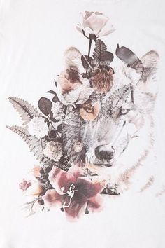 Want the subtle wolf as a tattoo behind roses #ad