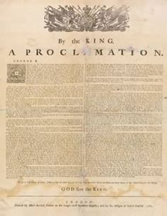 The Proclamation of 1763 took place on October 7, 1763, issued by King George III, and was a proclamation by the British that forbade any colonists from settling west of the Appalachian Mountains. This proclamation upset most colonists.
