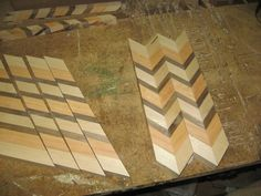 Woodworking Patterns The quick and dirty instructions on how to make a zig-zag pattern cutting board. Woodworking School, Learn Woodworking, Woodworking Patterns, Woodworking Workshop, Woodworking Crafts, Woodworking Plans, Woodworking Organization, Woodworking Chisels, Woodworking Lathe