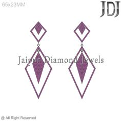 Pave Setting 925 Sterling Silver Rhombus New Design Ruby Gemstone Earring #Handmade #DropDangle