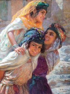 Jeux de fillettes, l'Alilou- Etienne Dinet