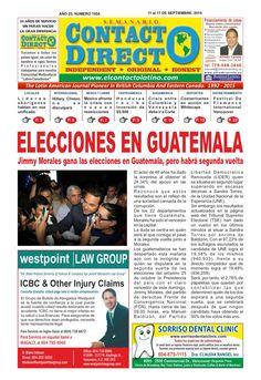 Semanario Contacto Directo Edición 11 de Septiembre 2015  PERIÓDICO CONTACTO DIRECTO EDICION  11 DE SEPTIEMBRE 2015 VANCOUVER CANADA