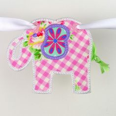 Elephant Banner ITH Project by Big Dreams Embroidery