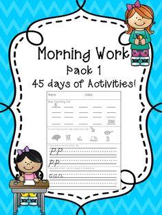 9 weeks of 1st Grade Morning Work!