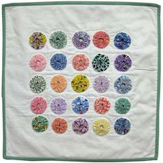 YoYo Bliss Mini Quilt -Yo Yo Quilting Kit -Learn How to Quilt