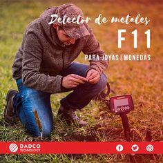 Dadco Technology Chile lanza una nueva oferta, el detector F11 de la marca Fisher. A un bajo costo de CLP 150,000.00 (Precio normal CLP 250,000.00) el F11 es uno de los detectores usados por quienes recién comienzan en el mundo de la detección de metales porque es un detector fácil de usar. Sumérgete en el mundo de la detección de la mano con el F11 con el cual hallaras monedas, joyas y tesoros perdidos. Fisher, Chile, World, Gold Detectors, Coining, Bass, Jewels, Chili, Chilis