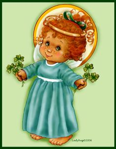 """""""March Angel""""- Ladybug Creations©2006. Just one of the 13 monthly angels that was published in a CD book.( A birthday angel was added to make it a baker's dozen.)"""